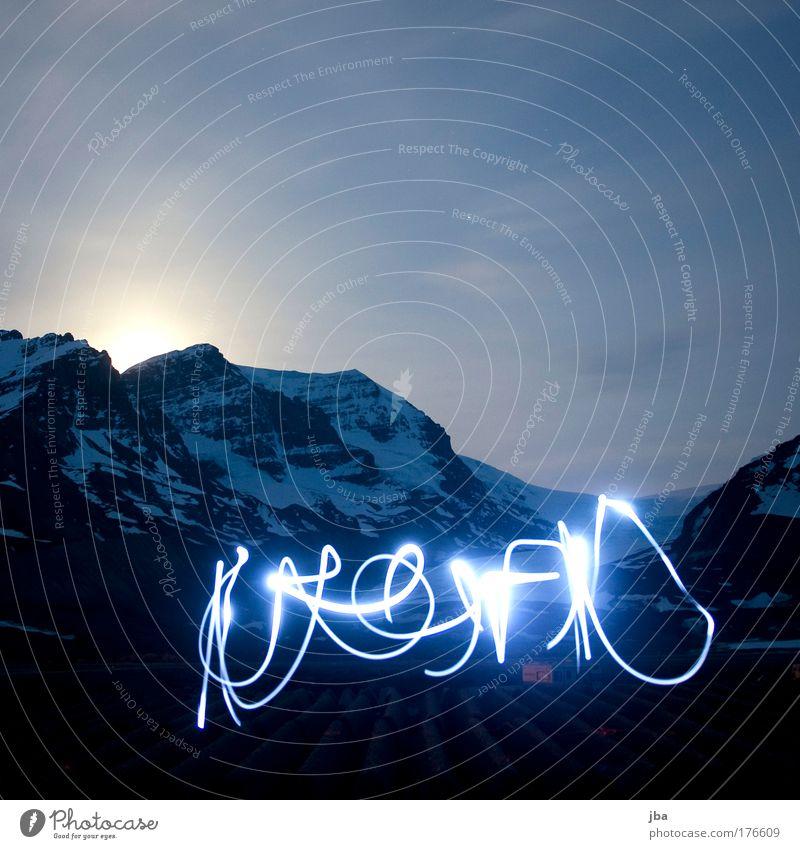 Athabasca Glacier Himmel Natur Ferien & Urlaub & Reisen Sommer Freude Umwelt Berge u. Gebirge Wärme Freiheit Glück Felsen Park Zufriedenheit Tourismus Stern