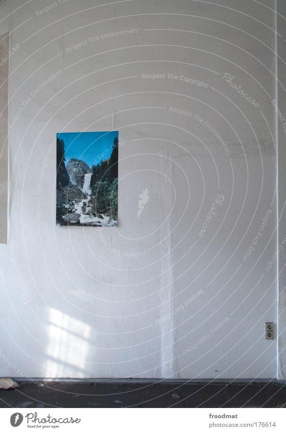 landschaft Gedeckte Farben Innenaufnahme Menschenleer Weitwinkel Kunst Printmedien Wasser Klimawandel Berge u. Gebirge Romantik Ordnungsliebe Reinlichkeit