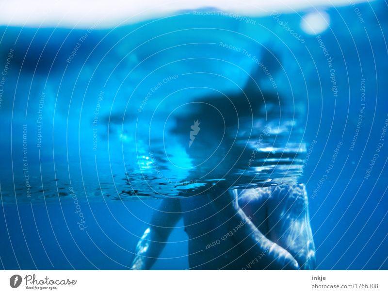 blue man Schwimmen & Baden Sommer Meer Mann Erwachsene Leben Körper Oberkörper 1 Mensch 30-45 Jahre 45-60 Jahre Wasser tauchen blau Farbfoto Außenaufnahme