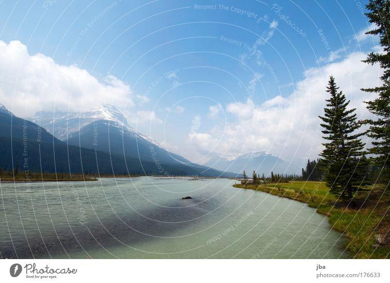 in Banff Natur Wasser Himmel Sonne blau Sommer Ferien & Urlaub & Reisen Erholung Berge u. Gebirge Frühling Landschaft Ausflug frisch Tourismus Fluss natürlich