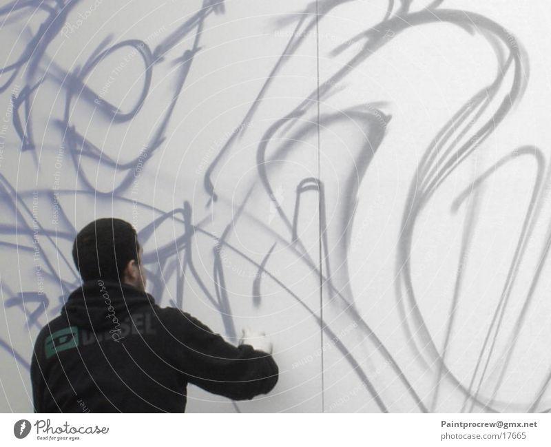Wryteonwall Mann Stil Fototechnik Graffiti Mensch Colors Mauer