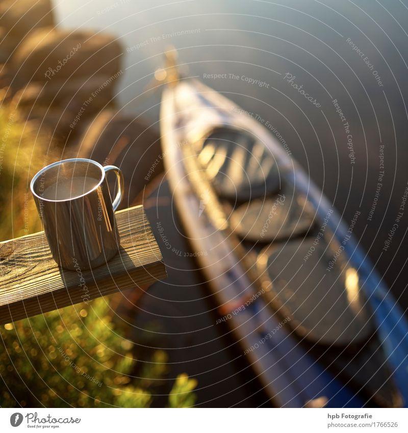 Paddelfrühstück Lifestyle Freizeit & Hobby Angeln Ferien & Urlaub & Reisen Tourismus Ausflug Abenteuer Freiheit Expedition Camping Wassersport Kajak Natur