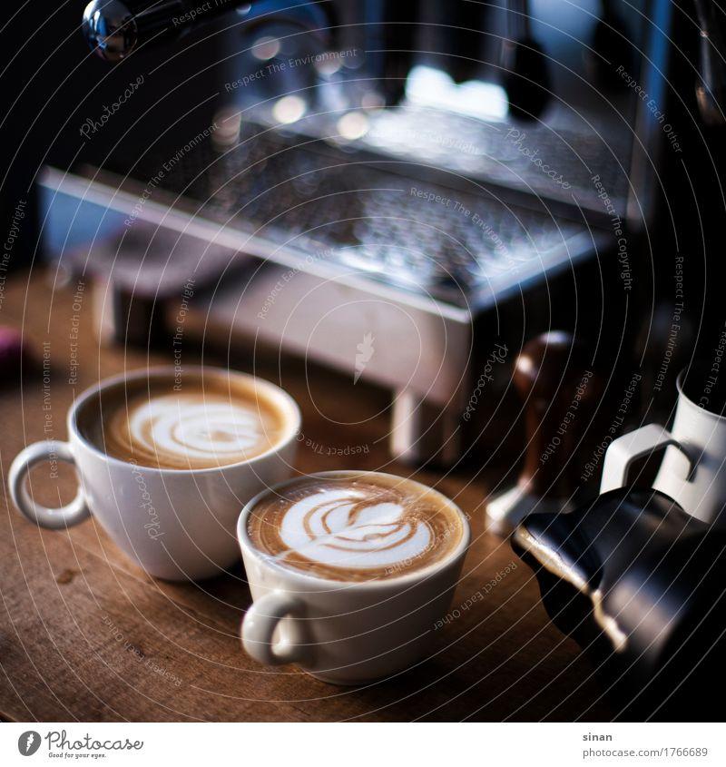 Cappuccino Ernährung Kaffeetrinken Getränk Heißgetränk Milch Espresso Tasse Reichtum Freizeit & Hobby Wohnung außergewöhnlich schön lecker Wärme braun silber