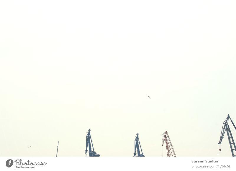 Hamburger Hafenromantik Himmel Ferne Ausflug Technik & Technologie Bauwerk Schifffahrt Maschine Werkzeug Wasserfahrzeug Basteln Kreuzfahrt schaukeln Ladung