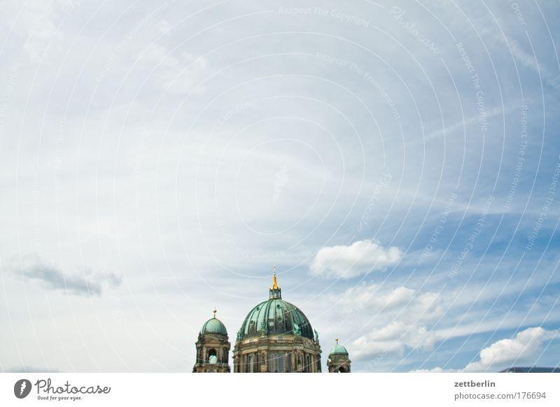 Berliner Dom Himmel Sommer Ferien & Urlaub & Reisen Wolken Berlin Himmel (Jenseits) Religion & Glaube Kirche Dom Kathedrale Textfreiraum Kuppeldach Baden-Württemberg Hohenzollern Deutscher Dom