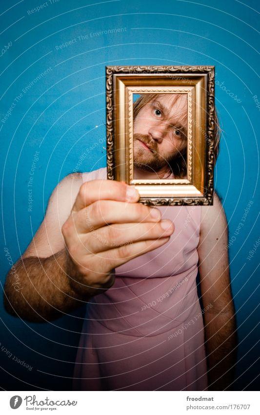 aus dem rahmen fallen Mensch Mann Hand Jugendliche blau Stil Mode Erwachsene maskulin Gold Lifestyle Hoffnung Porträt Coolness Kleid