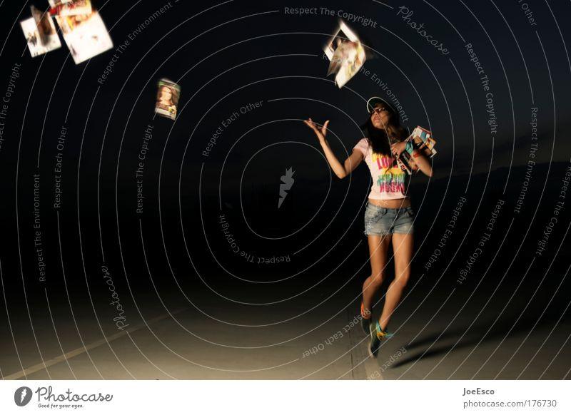 nachlassende kontaktwirkung Medien Mensch Frau Jugendliche Freude Erwachsene Gefühle Stil fliegen Studium Junge Frau Lifestyle Bekleidung lesen Bildung