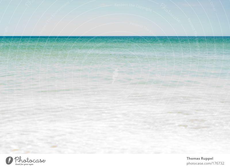 Ganz viel Meer Himmel Natur blau Wasser Sommer Meer Landschaft Küste hell Horizont Wetter Wellen groß Ostsee