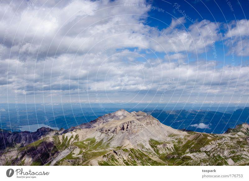 peak Natur Himmel Sonne Sommer Ferien & Urlaub & Reisen Wolken Tier Erholung Berge u. Gebirge träumen Landschaft Kraft Umwelt groß Horizont