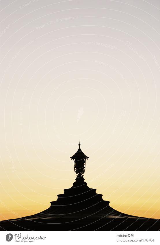 Japanese Nights. Himmel schwarz Lampe Kunst Architektur modern Dach Dekoration & Verzierung Spitze Bauwerk Bauweise Pavillon