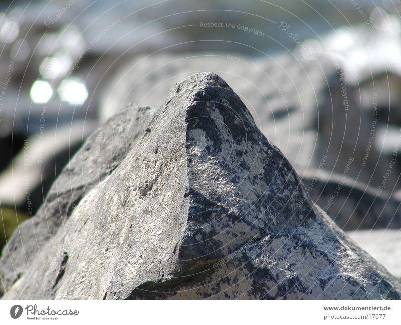 Steinberg Natur kalt Berge u. Gebirge Stein