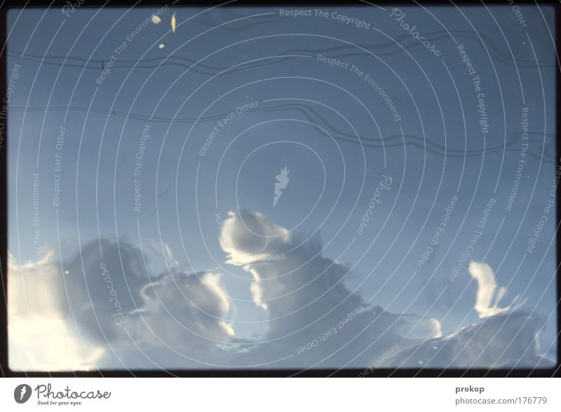 Zwischen meinen Welten Himmel Wolken Linie Wetter ästhetisch Klima