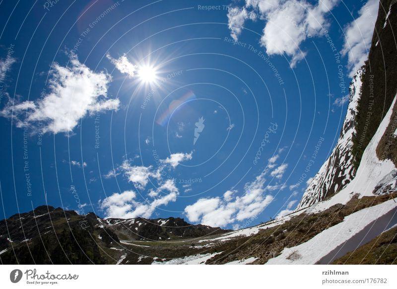 Sonne und Himmel Natur Sommer Ferien & Urlaub & Reisen Wolken Freiheit Berge u. Gebirge Landschaft Glück Luft Erde Freizeit & Hobby Ausflug frei Alpen