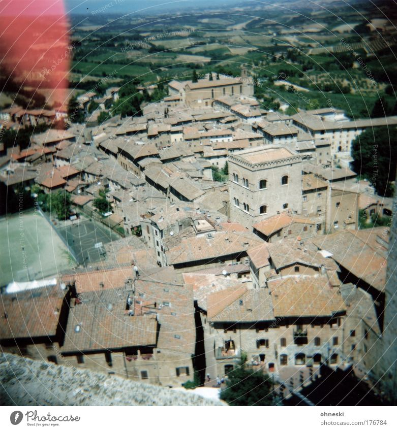 San Gimignano Stadt Sommer Ferien & Urlaub & Reisen Haus Ferne Freiheit hoch Ausflug Tourismus Aussicht Italien heiß entdecken Toskana Sightseeing