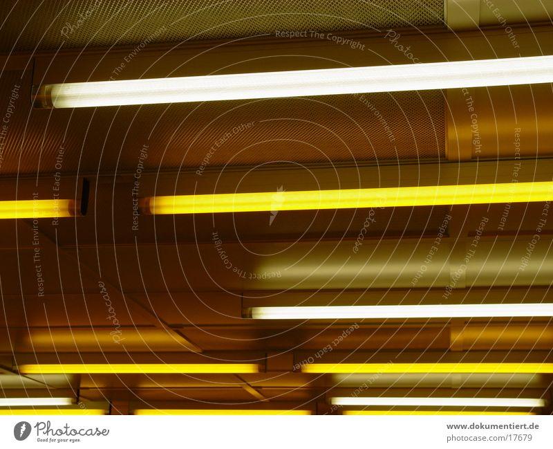 Neonröhren Neonlicht parallel Elektrisches Gerät Technik & Technologie GelbesLicht Reinraum Lampe