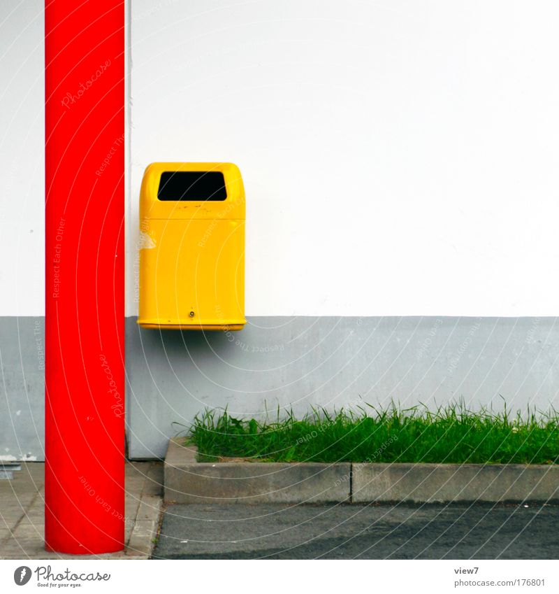 Buntes System grün Stadt rot Haus gelb Gras Stein Metall Erfolg Beton Fassade frisch Fröhlichkeit modern ästhetisch neu