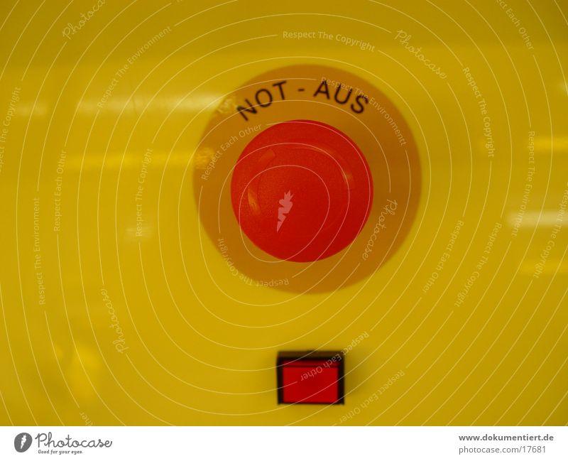 Notaus Schalter rot Industrie Schalter Notfall ausschalten Notaus