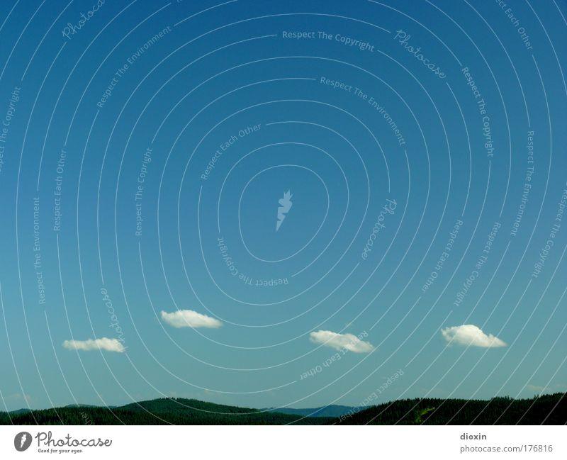 leicht bewölkt [FR 15|08|09] Natur schön Himmel weiß blau Sommer Ferien & Urlaub & Reisen ruhig Wolken Ferne Erholung Berge u. Gebirge Freiheit Landschaft Zufriedenheit Wetter