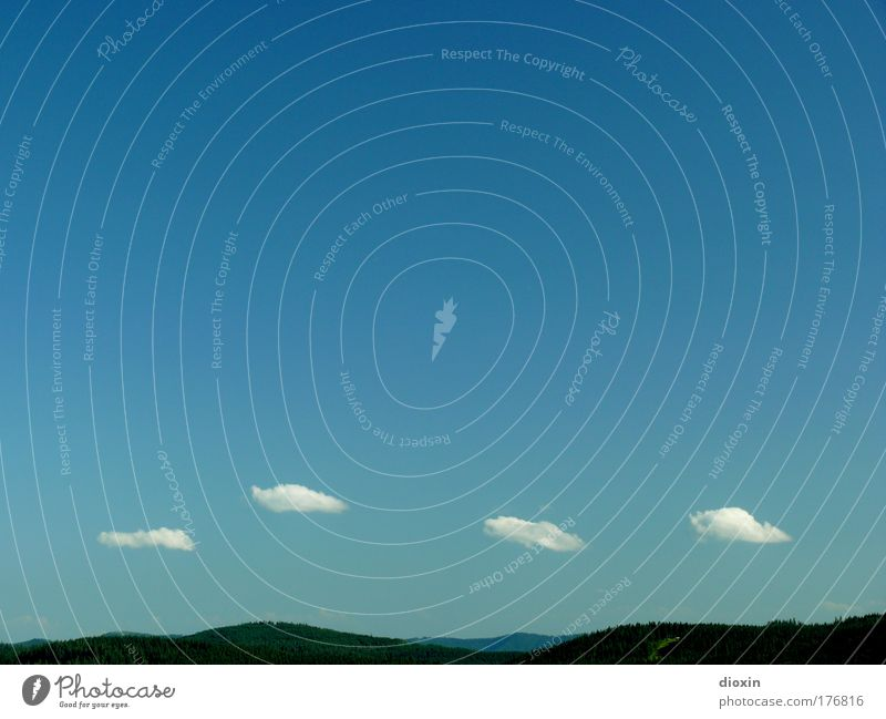 leicht bewölkt [FR 15|08|09] Natur schön Himmel weiß blau Sommer Ferien & Urlaub & Reisen ruhig Wolken Ferne Erholung Berge u. Gebirge Freiheit Landschaft