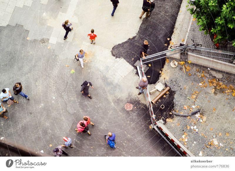 GTA Frankfurt Vogelperspektive Stadt Leben Platz modern Wandel & Veränderung Perspektive Geistlicher Wege & Pfade bevölkert Beruf Fußgängerzone Nonne