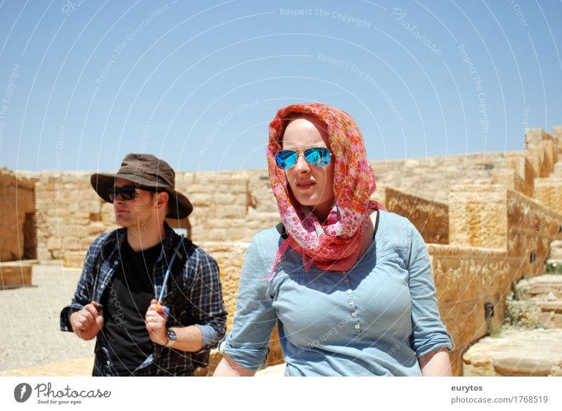 Traveller Mensch maskulin feminin Junge Frau Jugendliche Junger Mann Erwachsene Freundschaft Paar Partner 2 18-30 Jahre Landschaft Himmel Klima Klimawandel