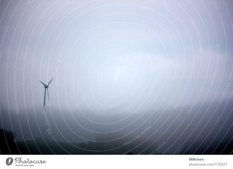 aussichtslos Nebel Wetter Wassertropfen Windkraftanlage trüb Eifel Sehvermögen Bodennebel