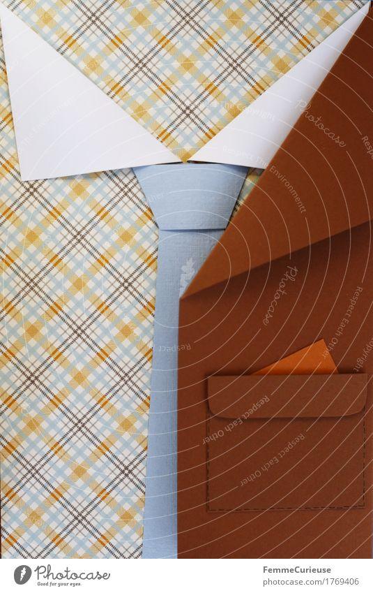 GutAngezogen_1769406 Business Mode braun elegant offen ästhetisch Erfolg Kreativität Bekleidung Papier Postkarte Jacke Hemd Anzug kariert Basteln