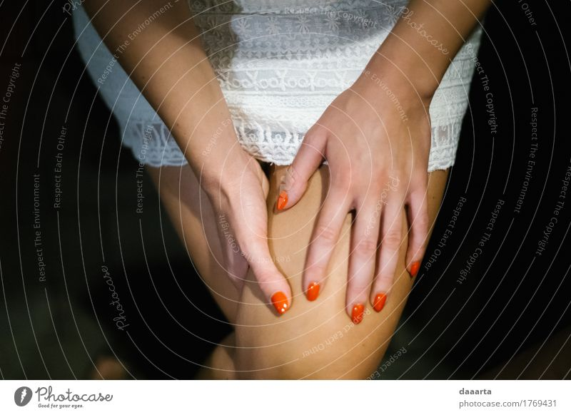 orange Nägel Lifestyle elegant Stil Freude Nagellack Leben harmonisch Freizeit & Hobby Ferien & Urlaub & Reisen Abenteuer Freiheit Nachtleben Entertainment
