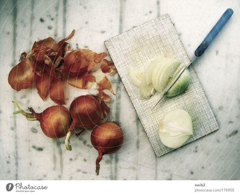 Tränenreicher Job Gesundheit Ernährung Lebensmittel kaputt Gesunde Ernährung Vergänglichkeit Kochen & Garen & Backen Küche Gemüse Willensstärke Messer Oberfläche Scheibe Mittagessen nachhaltig Schneidebrett