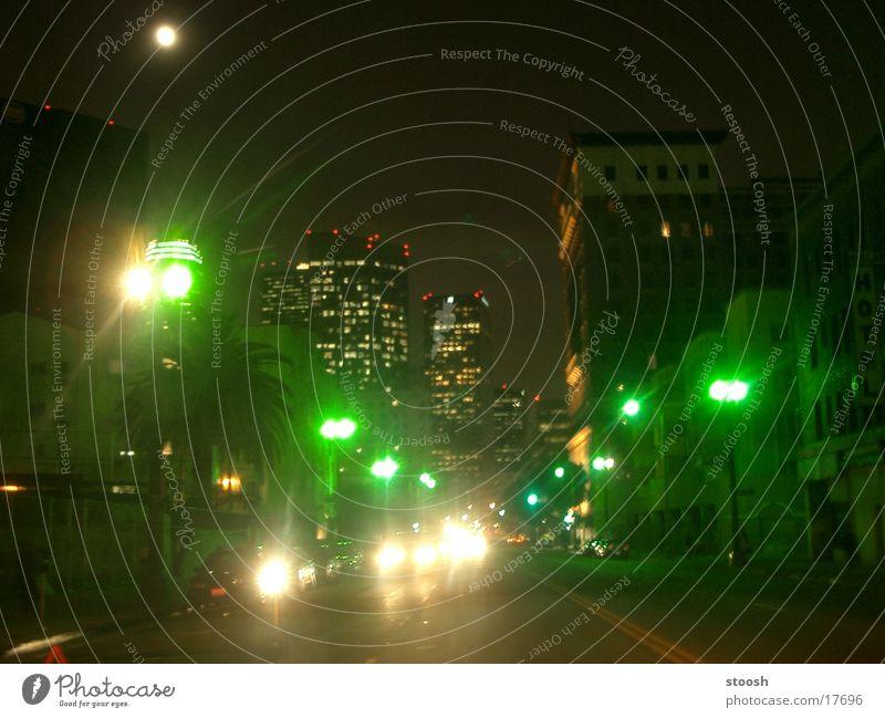 downtown Kalifornien Los Angeles Stadtzentrum Licht grün Nordamerika USA whilshire blvd