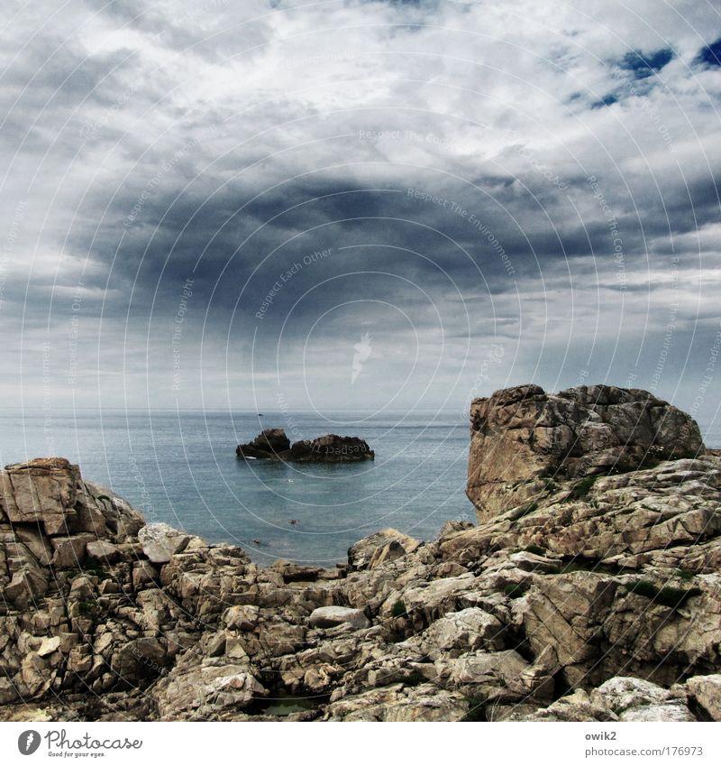 Le Gouffre Natur Himmel Meer Ferien & Urlaub & Reisen Wolken Ferne Freiheit Stein Landschaft Luft Küste Wind Wetter Umwelt Horizont Felsen