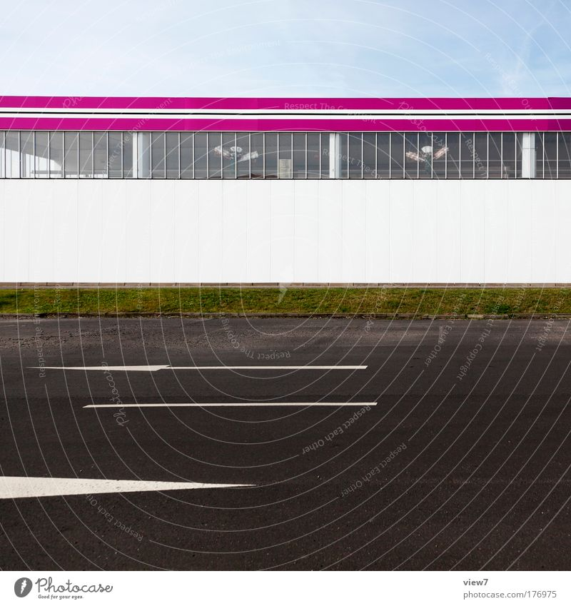 Kaufmarkt SUPER schön Haus Straße Fenster Stein Wege & Pfade Metall rosa Glas elegant Schilder & Markierungen Erfolg Beton groß hoch Fassade