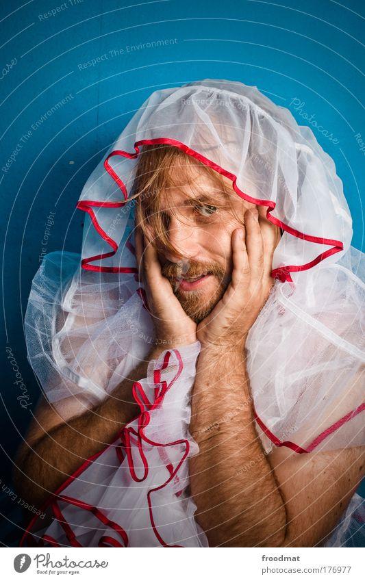 hallo liebe liebenden Mensch Mann Jugendliche schön Freude Gesicht Erwachsene Leben Haare & Frisuren Mode maskulin außergewöhnlich Lifestyle einzigartig Kitsch