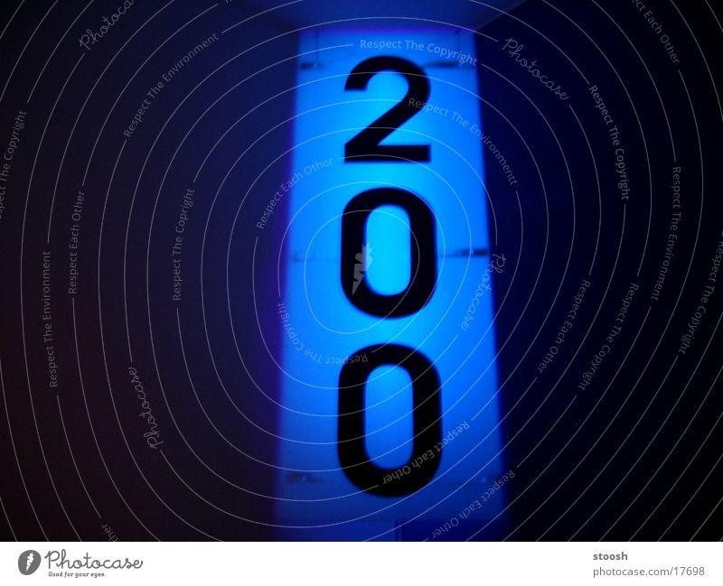 200 Formel 1 Schwarzlicht Dinge Schilder & Markierungen blau