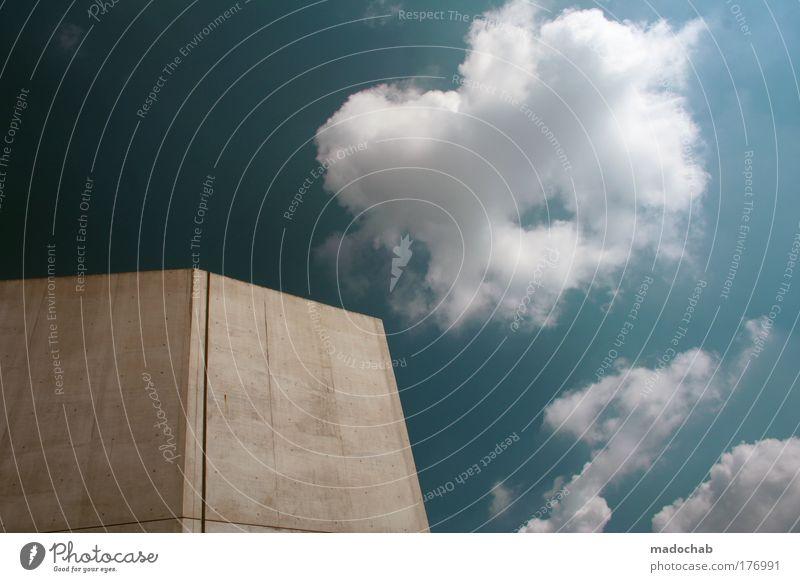 Du musst nur langsam genug gehen, ... Himmel blau Stadt ruhig Wolken Einsamkeit kalt Gebäude Kraft Architektur Wetter elegant ästhetisch einfach Schutz fest