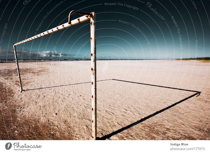 Himmel Natur blau schön Ferien & Urlaub & Reisen Sonne Sommer Meer Strand Erholung Landschaft Sport Sand Küste Horizont Fußball