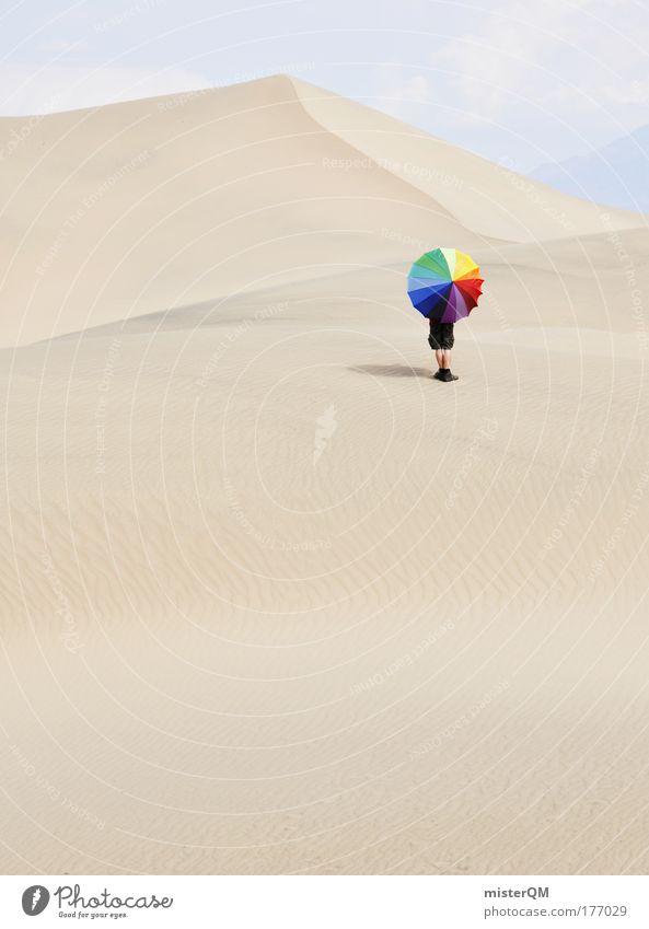 Colour the Desert. Einsamkeit Ferne Wärme Sand außergewöhnlich Ausflug Design verrückt Tourismus Abenteuer Pause Grafik u. Illustration Wüste Kreativität Schutz Idee
