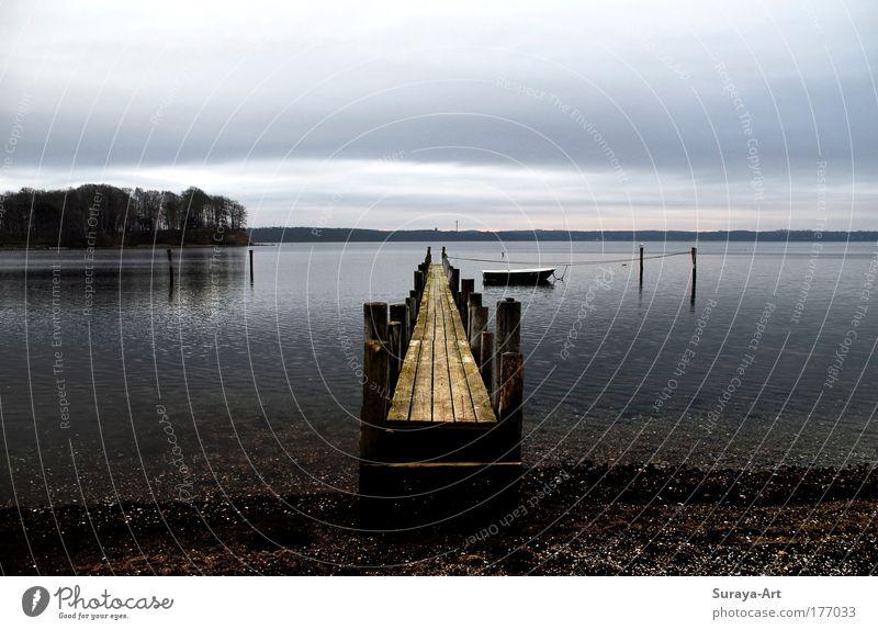 The Way of Silence Wasser Himmel Meer blau Ferien & Urlaub & Reisen ruhig Einsamkeit Ferne Erholung Freiheit Holz Stimmung Küste Zukunft Insel Romantik