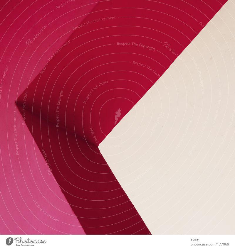 Grotesk Wand Architektur Mauer Stein Stil Kunst Linie rosa Fassade Design verrückt modern Schriftzeichen Ecke Grafik u. Illustration einfach