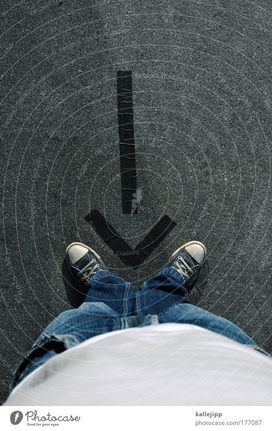 input Mensch Mann Wege & Pfade Erwachsene Beine Fuß Freizeit & Hobby Design Ordnung Verkehr maskulin Studium Perspektive Lifestyle stehen Telekommunikation