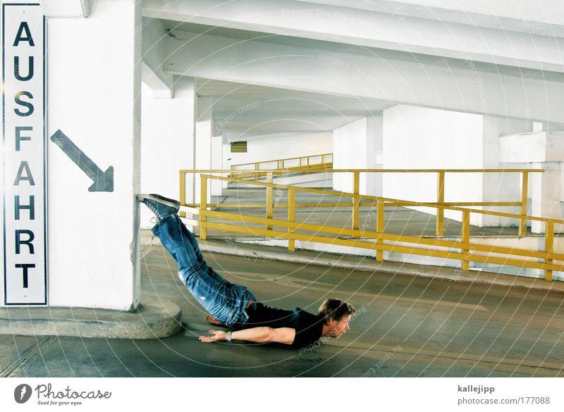 2500_output Mensch Mann Freude Erwachsene Spielen Bewegung Schilder & Markierungen maskulin verrückt Zukunft Lifestyle Ziel Güterverkehr & Logistik Pfeil