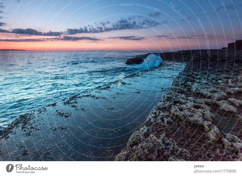 Dazwischen Du Ferne Meer Wellen Landschaft Himmel Wolken Horizont Sonnenaufgang Sonnenuntergang Schönes Wetter Felsen Küste Insel Republik Irland Unendlichkeit