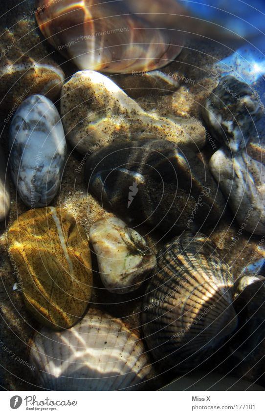Mehr Meer Natur Wasser schön Sommer Strand Ferien & Urlaub & Reisen Stein See hell Küste Wellen glänzend Umwelt nass Insel