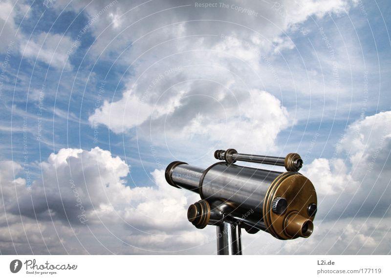 GUTE AUSSICHT Himmel blau Sommer Wolken Ferne Stil Freiheit grau Luft Metall Maschine Wetter ästhetisch Luftverkehr Zukunft Wissenschaften