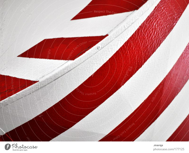 Signal Farbfoto abstrakt Muster Stil Design Metall Schilder & Markierungen Linie Streifen einfach Erfolg Sauberkeit rot weiß Grafik u. Illustration