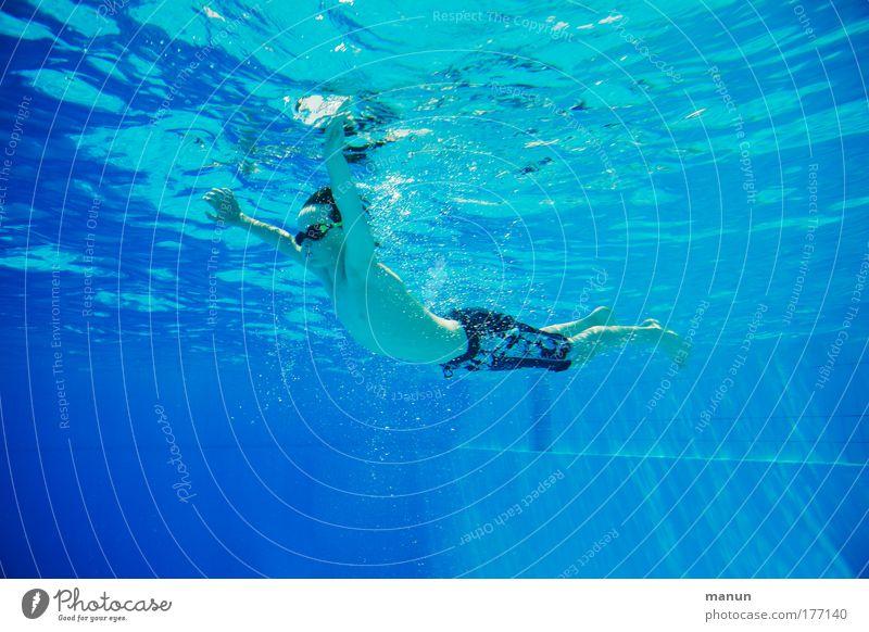 sub aqua Jugendliche Wasser blau Sonne Ferien & Urlaub & Reisen Sommer Erholung Leben Glück Kindheit Gesundheit Zufriedenheit Schwimmen & Baden frisch Erfolg Fröhlichkeit