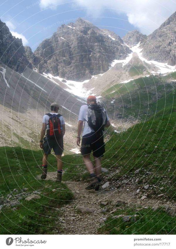 Aufstieg zur Mindelheimer Hütte Berge u. Gebirge wandern Alpen Bayern aufsteigen Allgäu