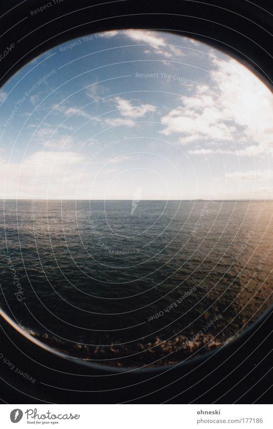 Meerblick Farbfoto Außenaufnahme Lomografie Menschenleer Tag Licht Schatten Sonnenlicht Panorama (Aussicht) Weitwinkel Fischauge Ferien & Urlaub & Reisen