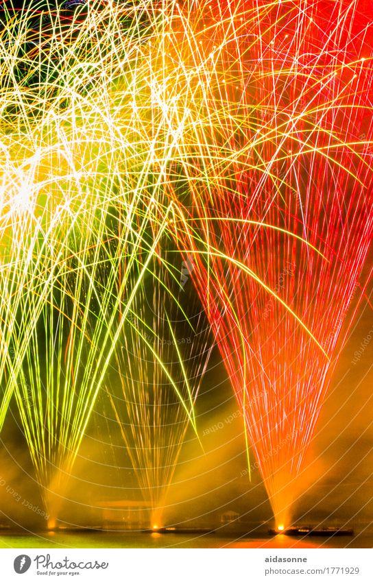 feuerwerk Entertainment Party Veranstaltung Feste & Feiern Silvester u. Neujahr Jahrmarkt Kunst Freude Glück Fröhlichkeit Begeisterung Farbfoto Menschenleer