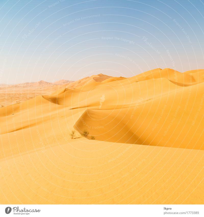 Outdoor-Sanddüne in Oman alten Wüste Rub al Khali schön Ferien & Urlaub & Reisen Tourismus Abenteuer Safari Sommer Sonne Natur Landschaft Himmel Horizont Park